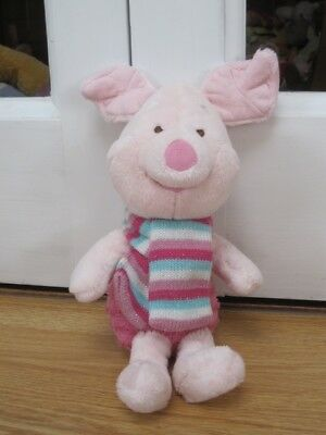 """CARTE BLANCHE OH JUST PIGLET 12"""" PLUSH SOFT TOY Wv SCARF DISNEY WINNIE THE POOH"""