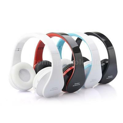 Foldable Wireless Bluetooth Stereo Headset Hands-free Headset Mic For iPhone PC