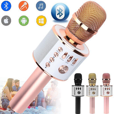 Portable Wireless Bluetooth Karaoke #0328 Microphone USB KTV Player Mic Speaker