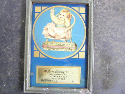 McConnellsburg Dairy advertising thermometer antique