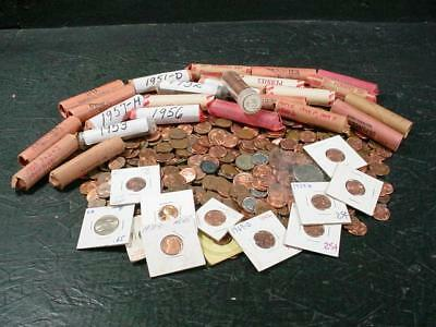 NobleSpirit NO RESERVE {3970}Unsearched Stash of US Pennies & Other US Coins