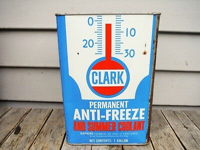 Vintage 1 Gallon Clark Refining Co. Anti-Freeze Can Oil Can Milwaukee Wisconsin
