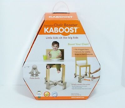NEW Kaboost Chair Booster Seat for Dining Portable for Under 4-Leg Chair Natural