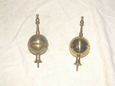 vintage set of 2 brass finials for tall clock
