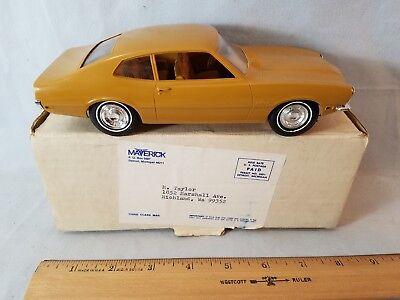 MIB Orig Mailing Box C 1970 Ford Maverick 1/25 Scale Promotional Model Gold NR