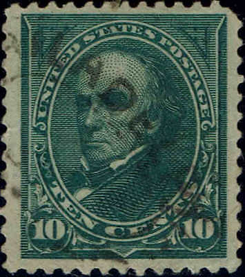 #258 1895 10 Cent Webster Bureau Issue Used--Vf