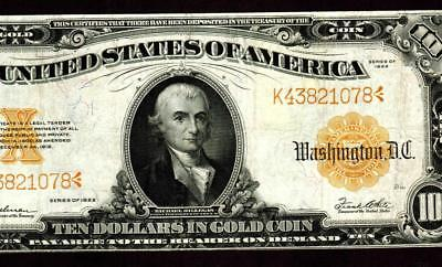 $10 1922 Gold Certificate ** More Currency For Sale **