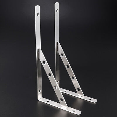 Reinforced Shelf Brackets Support Wall Bracket Heavy Duty High Load Strong Pair