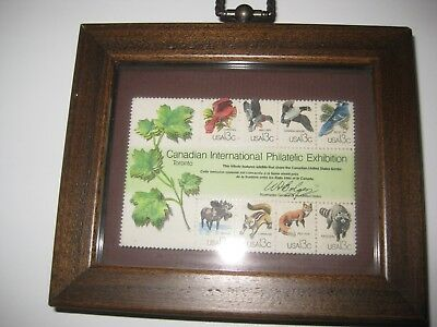 Dimensional 1978 Canadian International Philatelic Exhibition Wildlife Stamps