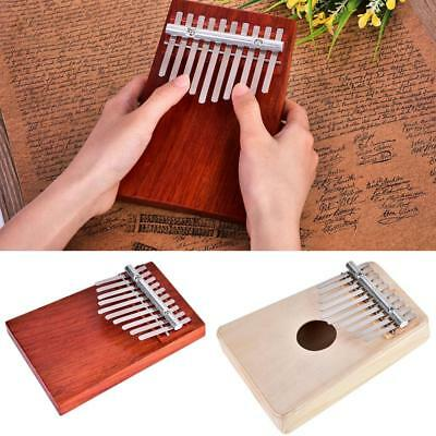 10 Keys Wooden Kalimba Mbira Thumb Piano Traditional Musical Instrument for Kids