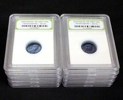 10 Slabbed Ancient Roman Constantine the Great Coins Nice Quality c 330 AD a4