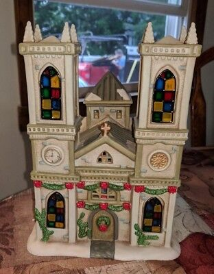 Christmas Village Cathedrals of the World WESTMINSTER ABBEY CHURCH LIGHTED RARE
