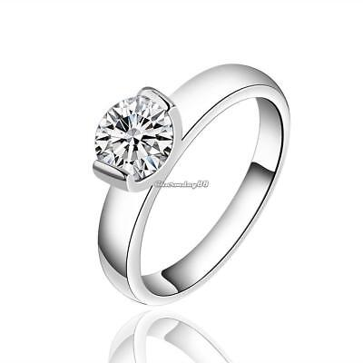 Silver Plated Cubic Zirconia Finger Ring Romantic Vintage Women Jewelry C1MY 01