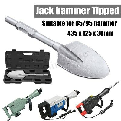 JackHammer Breaker Clay Spade Cutter Chisel Extra Wide Pointed Chisel Tipped UK