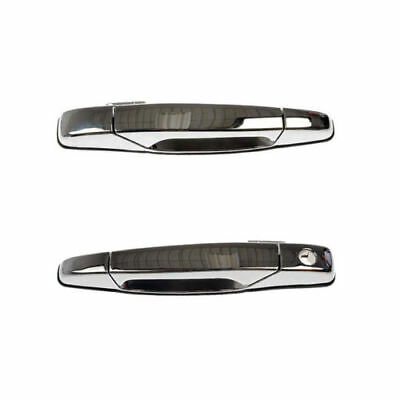 1X Chrome Front Outer Outside Exterior Door Handle Pair Set for Chevy GMC Pickup