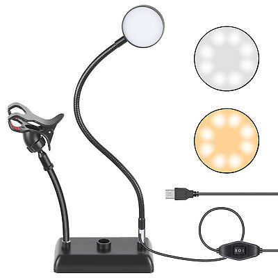 Neewer Table Top Live Broadcast LED Selfie Ring Light for Live Stream Youtube