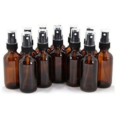 10-100ML Empty Amber Glass Spray Bottle Essential Oil Mist Travel Container Li