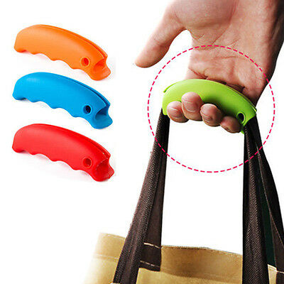 3pcs Shopping Plastic Bag Silicone Lifting Holder Handle Grip Easy Carrying Tool