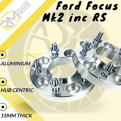 Ford Focus Mk2 inc RS 5x108 15mm Hubcentric wheel spacers 1 pair