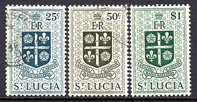 St. Lucia QE2  1953-63   25c to $1 SG181-83 Used Cat £17