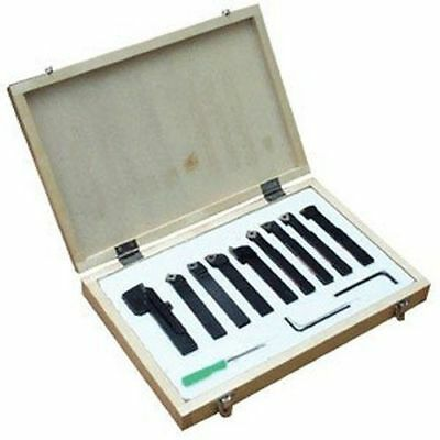 "16mm (5/8"") -9Pce Indexable Tip Metal Lathe Tool Set, Turning Boring Threading"