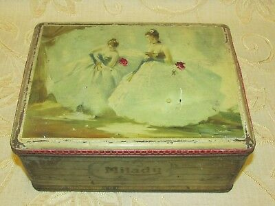 Large Vintage Milady Confectionery Tin