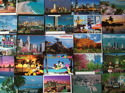 100 Larger/Oversize Postcards of THE UNITED STATES OF AMERICA  Used & Unused.