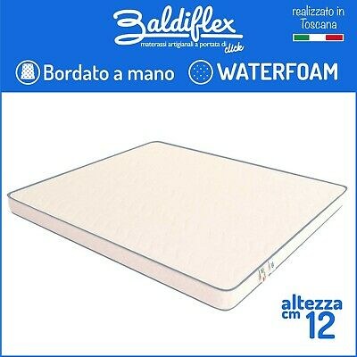 Materasso H 12 Cm Ortopedico Waterfoam Poliuretano Basic Bordato Anallergico
