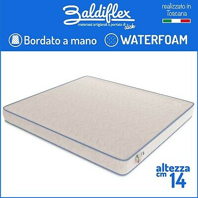 Materasso Ortopedico Waterfoam Poliuretano H 14 Cm Basic Bordato Anallergico