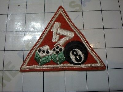 wwii military WW2 PATCH WOOL USA US MP Military Police Dice 8-Ball 17th 17