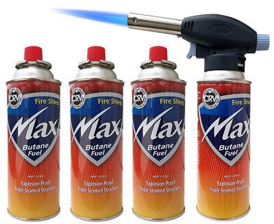 Blow Torch Butane Flame Thrower Burner Welding Auto Ignition Blowtorch BBQ Weed