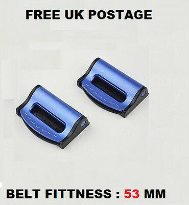 MITSUBISHI car SEAT BELT strap adjuster STOPPER BUCKLE improves SAFETY AID clip