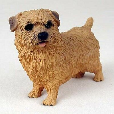 NORFOLK TERRIER dog HAND PAINTED FIGURINE Resin Statue COLLECTIBLE Puppy