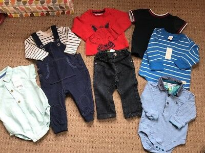 Baby Boys 6-9 Months Bundle Ted Baker Next Dungarees Outfits River Island Fox
