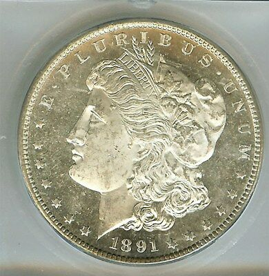 1891-S Morgan Silver Dollar  Icg Ms63 Proof Like