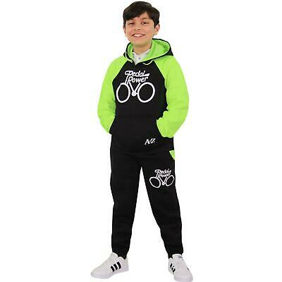 Boys Girls Tracksuit Kids Designer Pedal Power Jogging Suit Top Bottom 5-13 Year