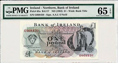Bank of Ireland Ireland - Northern  1 Pound ND(1983)  PMG  65EPQ