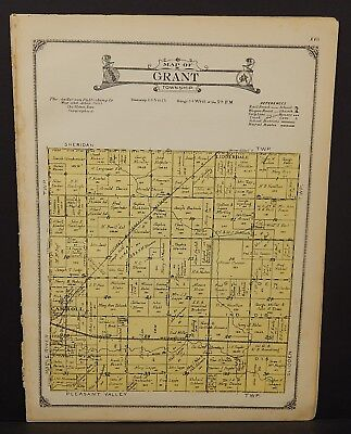 Iowa Carroll County Map Grant Township 1923  W20#38