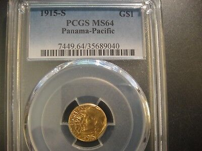 1915-S United States $1 Gold Panama-Pacific. PCGS MS64. PQ