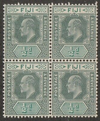 Kappysstamps 226 Fiji Sc #70 Die Ii Wmk 3 Mnh Never Mounted Block Superb