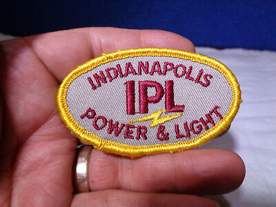 Vintage ~Ipl~ Advertising Shirt Patch  **indianapolis Power & Light**