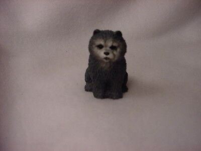 CHOW blue puppy TiNY DOG Figurine HAND PAINTED MINIATURE Mini Collectible Statue