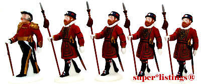Dept. 56 Yeomen Of The Guard Set of 5 Retired Dickens 58397