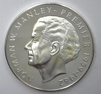 Jamaica 1973-Fm Silver 5 Dollars -Norman Manley- Near Perfect Proof Dcam