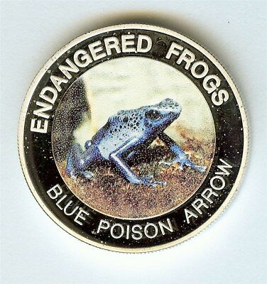 Endangered Frogs 2010 10 Kwacha -Blue Poison Arrow- Perfect Proof Dcam