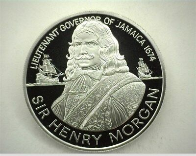 Jamaica 1974-Fm Silver $10 -Sir Henry Morgan- Perfect Proof Dcam