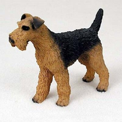 AIREDALE Dog HAND PAINTED FIGURINE Resin Statue COLLECTIBLE TERRIER Puppy