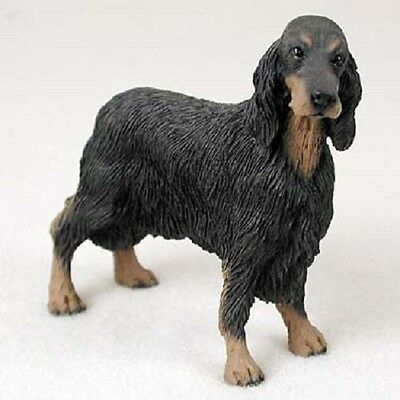 GORDON SETTER dog HAND PAINTED FIGURINE Resin Statue COLLECTIBLE puppy