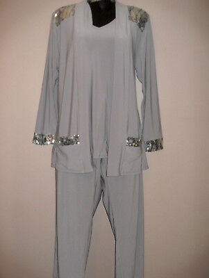 Xl Womens Antthony Pants Sets With Matching Sequin Cardigan And Cami New