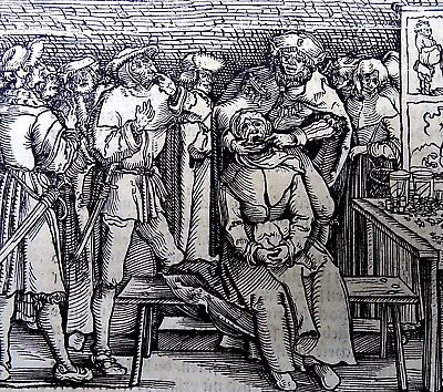 1532 Master of Petrach - Hans Weiditz 1495-1537 - MEDIEVAL DENTIST Pulling Teeth